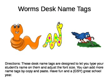 Name Tags Worms