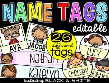 Name Tags {editable version}