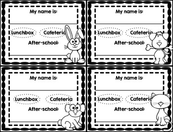 Name Tags for Back to School (Free)