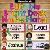 Name Tags for Desk Melonheadz BRIGHT Polka Dots {168 Kids} Fits Target Pockets