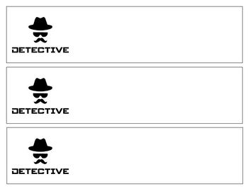 Name Tags for Desks ~ Detective Themed