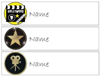 Name Tags for Desks ~ Hollywood Themed