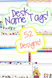 """Name Tags for Desks. Package of 52 Designs! With special """""""