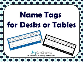 Name Tags for Desks and Tables
