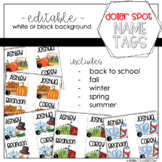 Name Tags for Dollar Spot Labels {EDITABLE}