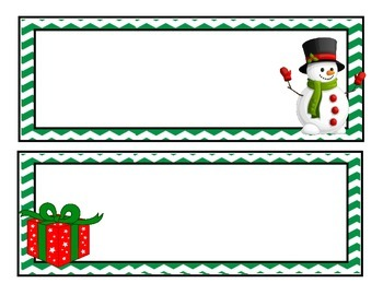 Name Tags for Holidays (Christmas, Halloween, Valentine's, 4th of July)
