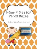 Name Tags for Pencil Boxes