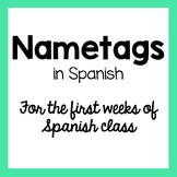 Name Tags for Spanish Class