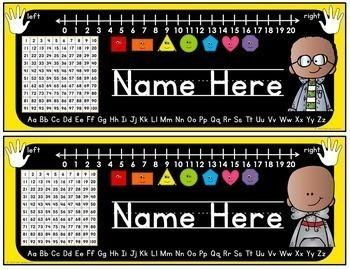 Name Tags for Student Desks