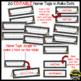 Name Tags for Student desks ~ Polka Dot B/W Print