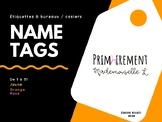 Name Tags for lockers and desks / Étiquettes à casiers et bureaux