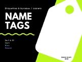 Name Tags for lockers or desks / Étiquettes de nom pour bu