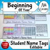 Name Tags in Color and Black and White Versions - Editable