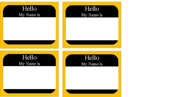Name Tags l Desk Tags l Hello my name is
