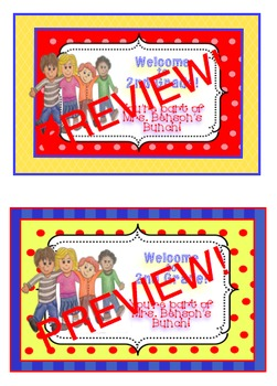 Name Tags or Welcome Back Labels Made to Order!