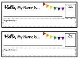 Name Tags with Goal Setting!
