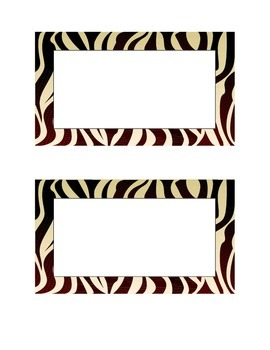 Name Tags with Zebra Border