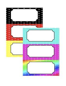 Name Tags/Labels (Polka Dot Theme)