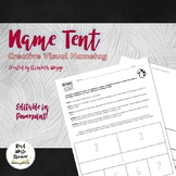Name Tent | Creative Visual Name Tag | Back to School | First Day of School