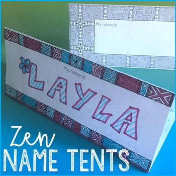 Beginning of the Year Student Name Activities