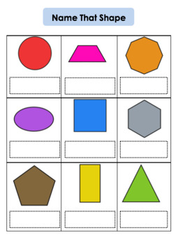 Name That 2D Shape - Initial Assessment