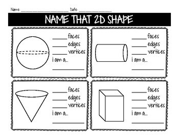 Name That 2D and 3D Shape