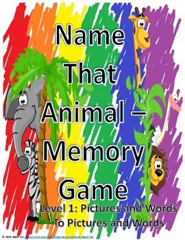 Name That Animal Memory Level 1
