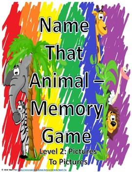 Name That Animal Memory Level 2