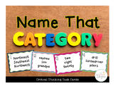 Name That Category: Critical Thinking Task Cards