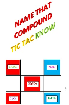 Name That Compound Tic Tac KNOW