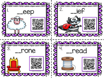 """Digraphs """"Sh"""" and """"Th"""" {With QR Codes}"""