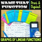 Graphs of Linear Functions (Equations) | Name That Functio