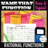 Graphs of Rational Functions | Name That Function | Print
