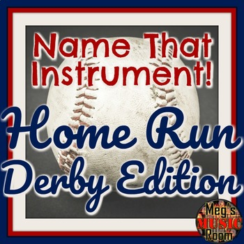 Name That Instrument! Home Run Derby Orchestra Game - ELEMENTARY MUSIC PPT GAME