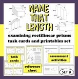 Name That Length - analyzing irregular prisms task cards + printables (set b)