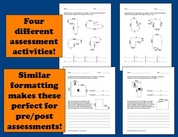 Name That Length - analyzing rectilinear figures task cards + printables (set a)