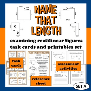 Name That Length - analyzing rectilinear figures task card