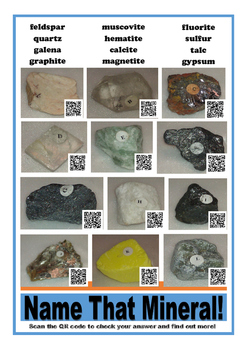 Name That Mineral Poster w/ QR Codes