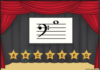 Name That Note! Bass Clef Game - BOOM Cards