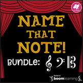 Music Distance Learning: Treble Clef, Bass Clef, Alto Clef Note Names BOOM Cards