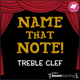 Music Distance Learning: Name That Note! Treble Clef Game - Musical BOOM Cards