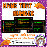 Name That Number Digital Task Cards Boom Cards for Distanc