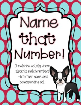 Name That Number Snowman themed! Number, Word and Set Matching Activity