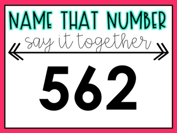 Name That Number- Reading Numbers Aloud Practice (Editable!)