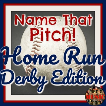 Name That Pitch! Home Run Derby Treble Clef Game – ELEMENTARY MUSIC PPT GAME