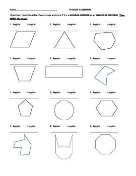 Name That Polygon Worksheet