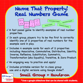Name That Property! Real Numbers