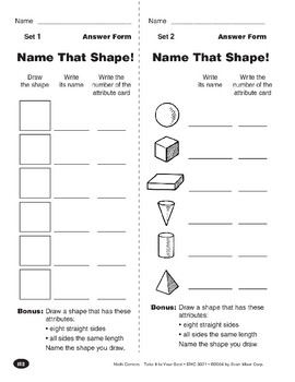 Name That Shape! (Plane & Solid Geometric Shapes)