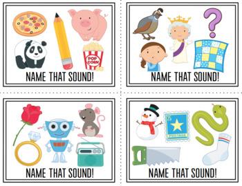What's That Sound! Beginning Sound Task Cards