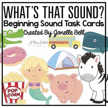 Name That Sound! Beginning Sound Task Cards